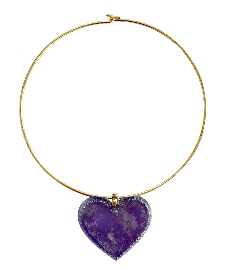 Candy Heart Necklace (Grape)