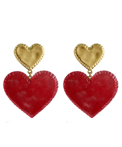 Candy Heart Earrings (Cherry)
