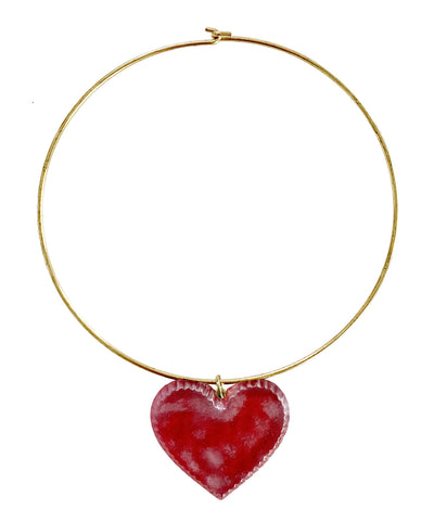 Candy Heart Necklace (Cherry)
