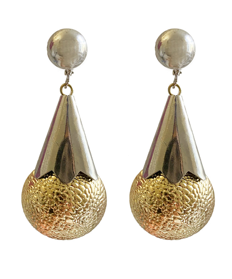Vintage Modernist Teardrop Earrings