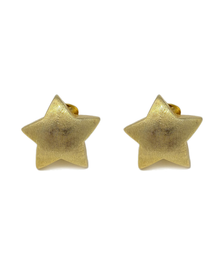 Vintage Star Clip On Earrings