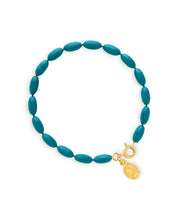 Charleston Rice Bead Bracelet (Teal)