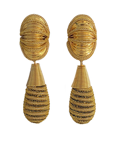Vintage Oversize Teardrop Earrings