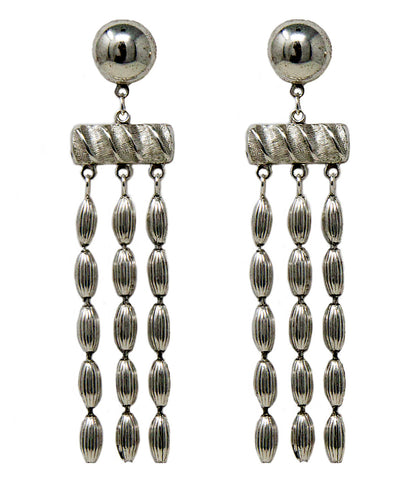 Three Strand Earrings (Vintage Silver)