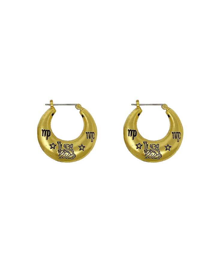 Zodiac Mini Hoop Earrings (Virgo)