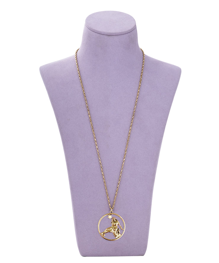 70s Inspired Zodiac Necklace (Virgo)