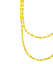 Charleston Rice Bead Necklace (Sunshine Yellow)