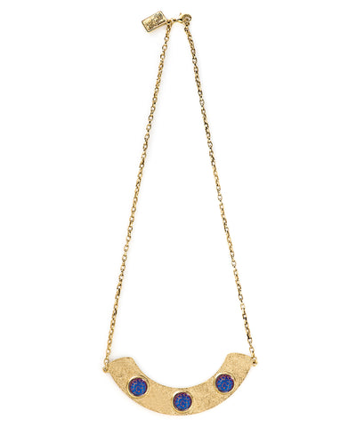 Crescent Necklace (Hazy Violet)
