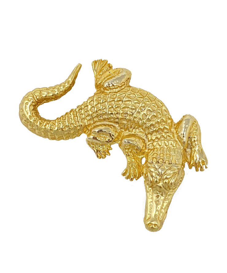Vintage Alligator Brooch