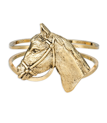 Hold Your Horses Bangle (Vintage Gold)