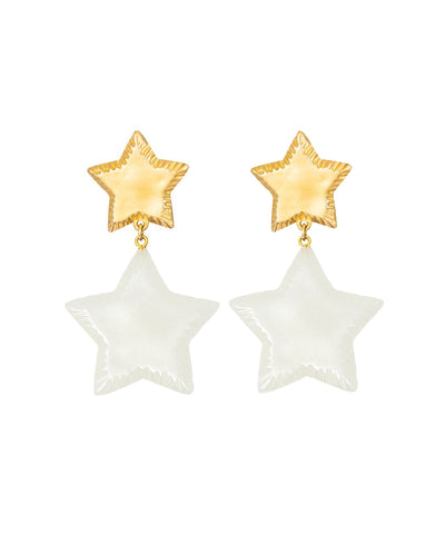 Starry Night Earrings (Shimmer White)