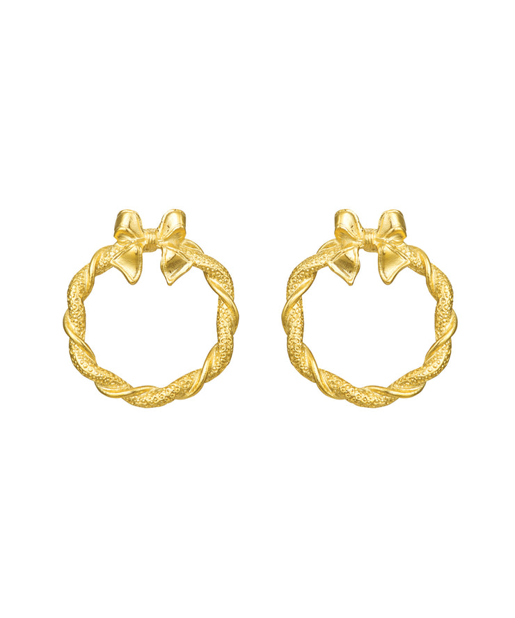 Golden Wreath Earrings
