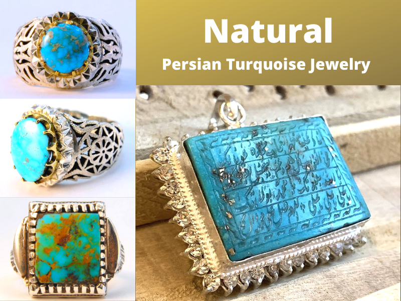 natural persian turquoise jewelry