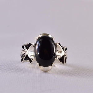Black Aqeeq onyx aqeeq stone ring for men and women | Hirz Jawad | Yemeni Aqeeq Ring Size 9.5 - AlAliGems
