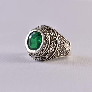 Handmade Emerald Rings | AlAliGems | Emerald Vintage Ring Green Real Emerald Stone | US Size 10
