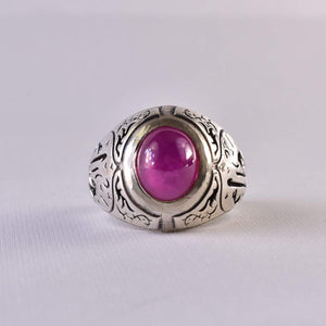 Handmade Ruby Rings | AlAliGems | Ruby Vintage Ring Red Real Ruby Stone | US Size 11 - AlAliGems
