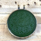 Islam Engraved Arabic, Dua, Quran engrave pendant Car decoration Hanging Green aqeeq ahlul bayt names engraved AlAliGems