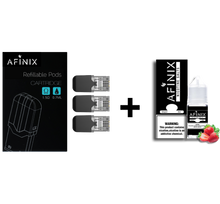 Load image into Gallery viewer, Afinix 30ml Bottle + Refillable Pods (Juul & Juul Compatible) Bundle