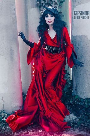 Red Mina Gothic Victorian Gown from Dracula