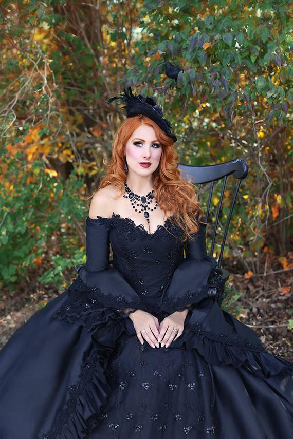 Gothic Marie Antoinette Sparkle Gown