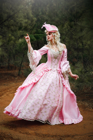 Off-Shoulder Marie Antoinette Sparkle Fantasy Gown