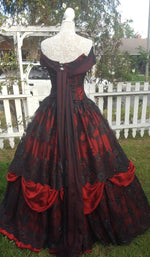Gothic Belle Red/black Upscale Fantasy Gown