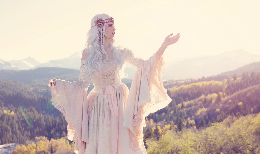 Champagne/Blush Gwendolyn Medieval Stretch Gown