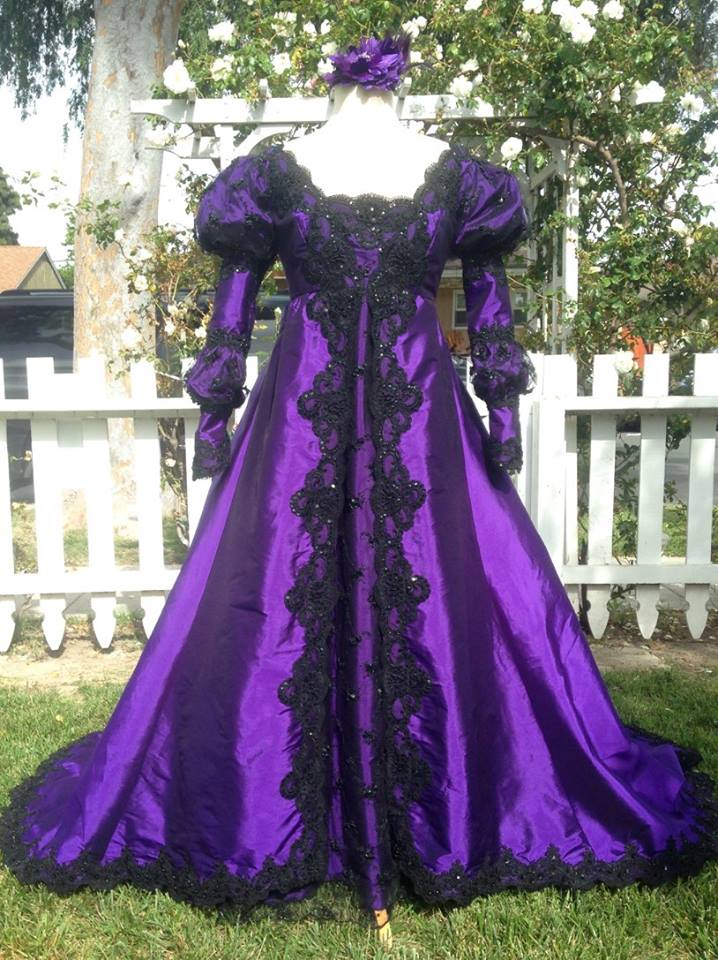 Gothic Ever After Wedding Gown or Costume Dark Colors