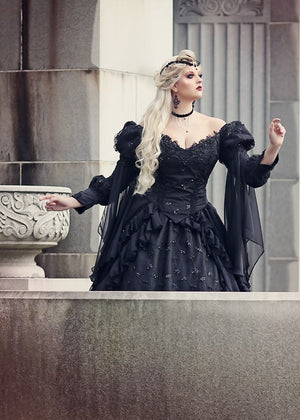 Gothic Dark Colors Sleeping Beauty Gowns