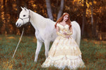 Belle Wedding Gown Ivory/Gold Custom