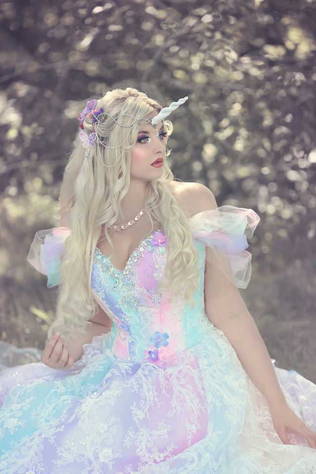 Fairy Fantasy Pastel Unicorn Rainbow Gown