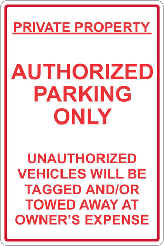 Authorized Parking