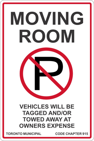 No Parking Moving Room