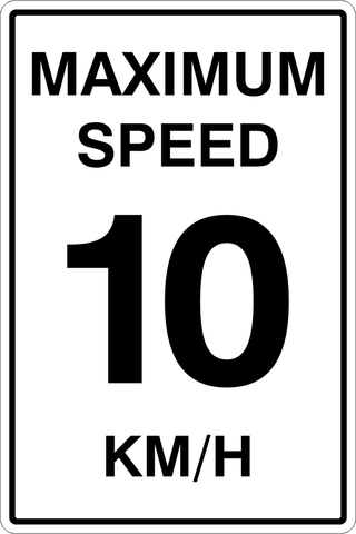 Maximum Speed 10KM/H