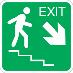 Stair Egress Arrows
