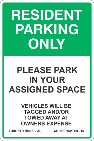 Resident Parking Only