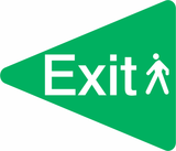 Green Exit Directional