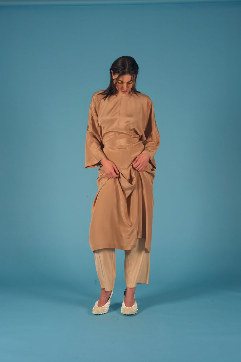 Diamond Star Robe Hazelnut