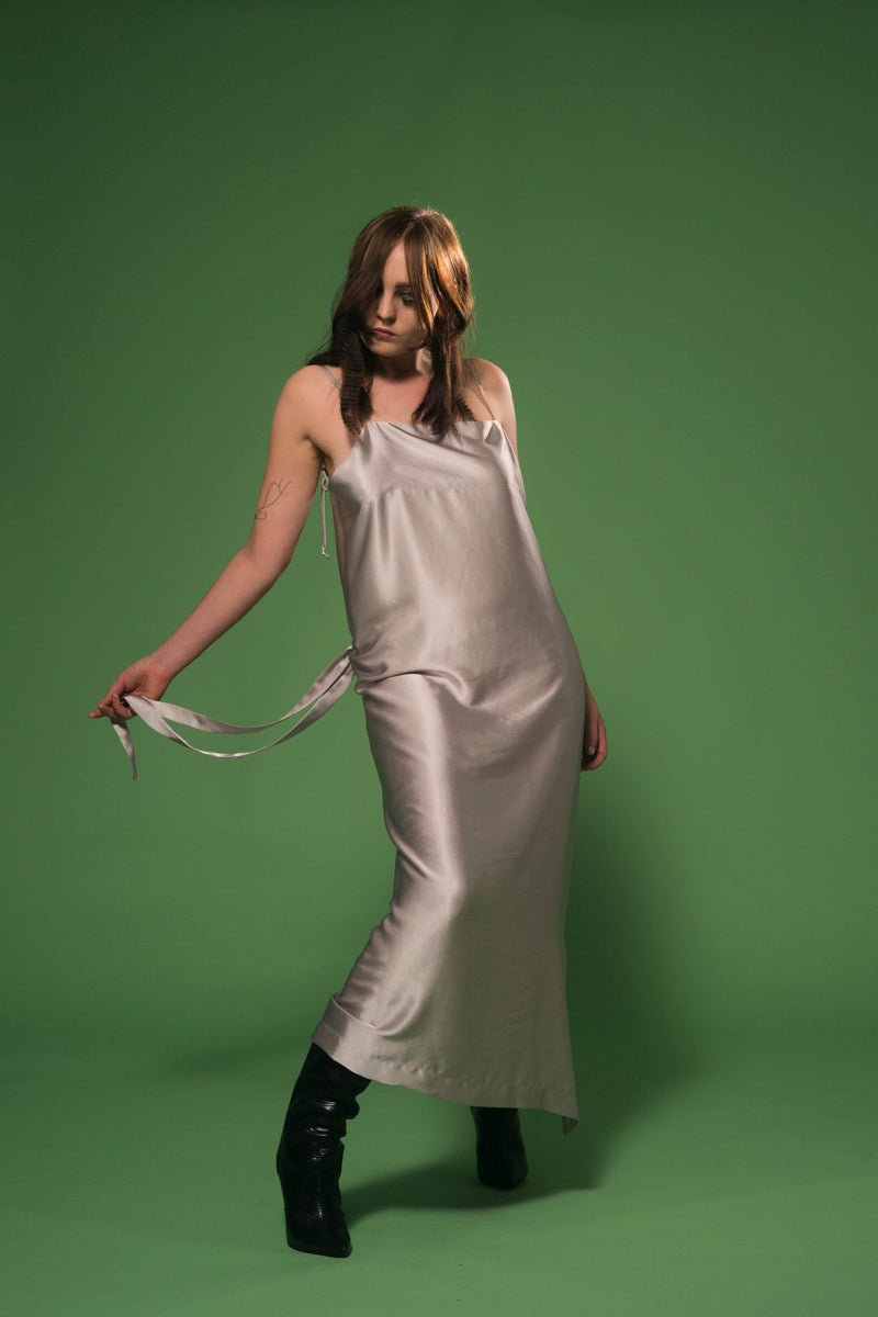 Beautiful Collision Dress Silver
