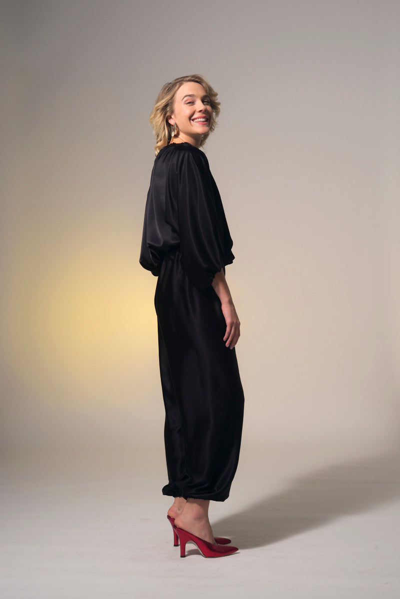 Paris is Burning Trouser Black Gloss