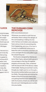 The DURAND - Best Corkscrew for fine older Wine and Ports