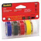 3M #35 Colored Vinyl Electrical Tape - Five Per Pack 051131-59073