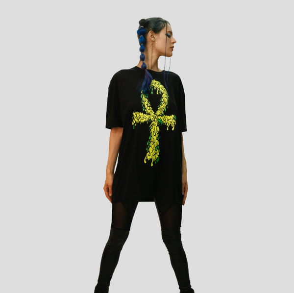 DRIPPY ANKH TEE / TANK TOP / YELLOW & GREEN
