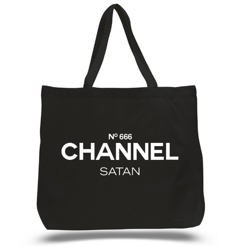 CHANNEL SATAN - OVERSIZED TOTE
