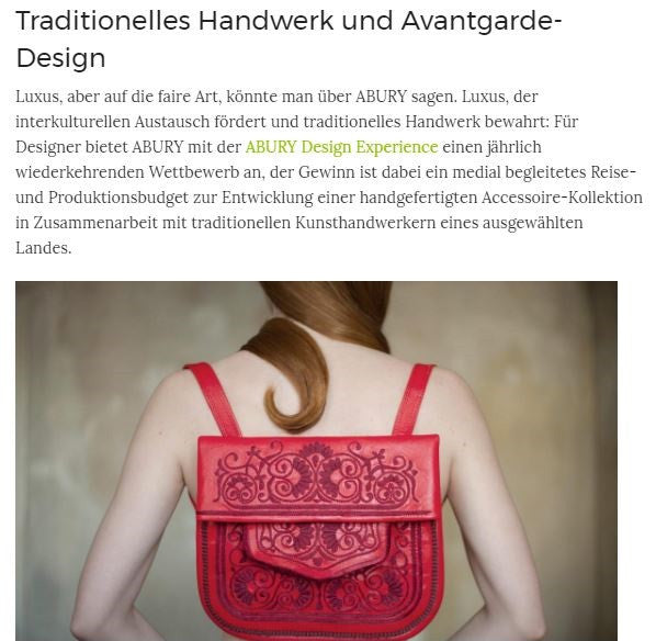 ABURY Red Berber Bag featured on Photo Circle