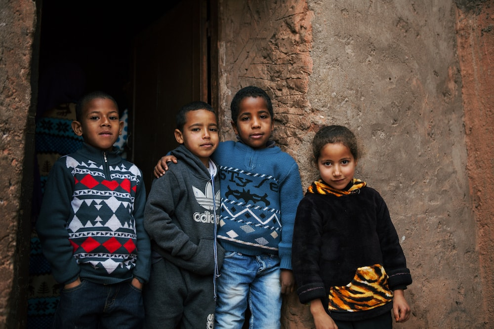 picture of children in morocco