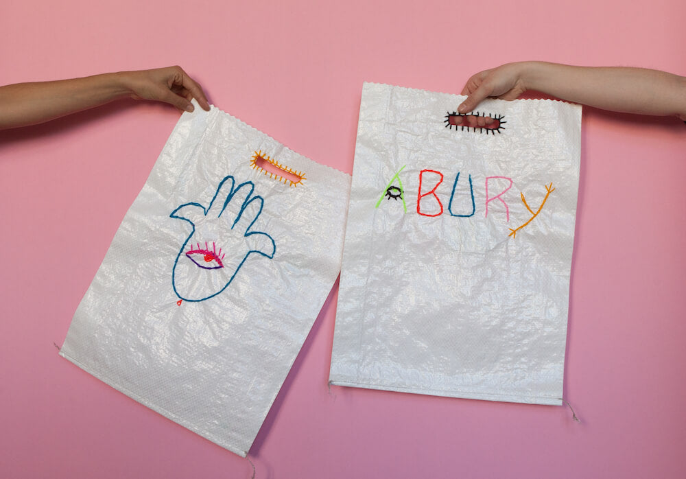 picture of the hand embroided dust bags