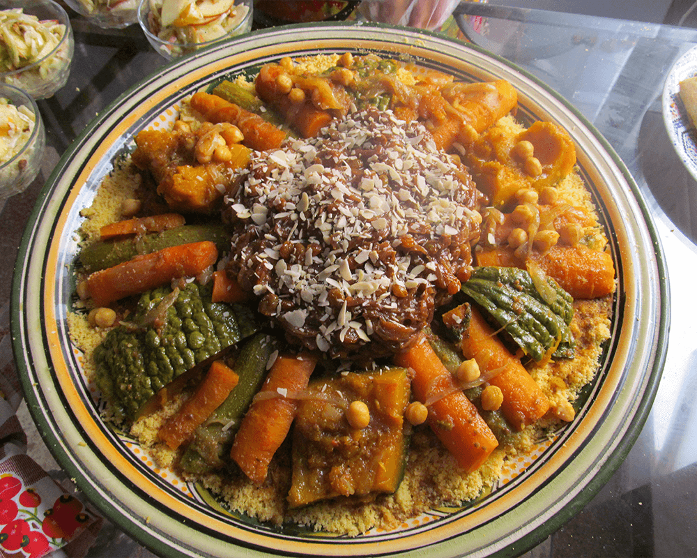 Typical Moroccan food