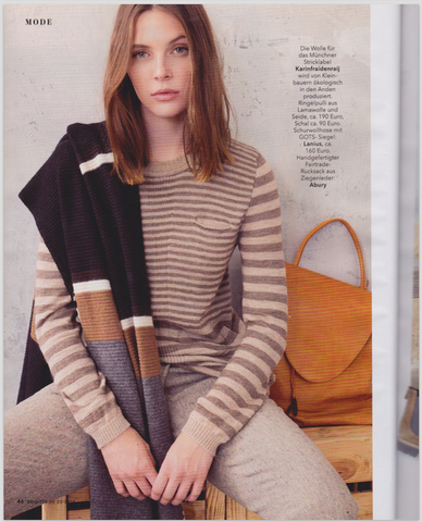 BRIGITTE MAGAZINE OCTOBER 16 SAFFRON LEATHER BACKPACK