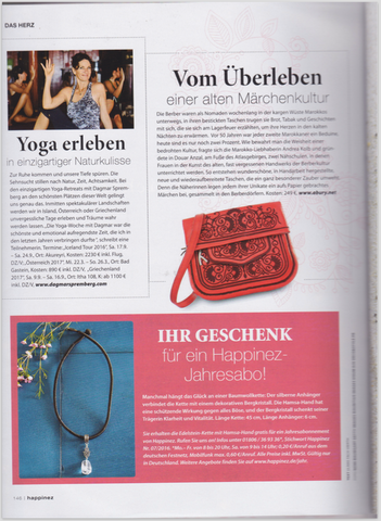 HAPPINEZ MAGAZINE SEPTEMBER 16 RED LEATHER BERBER BAG